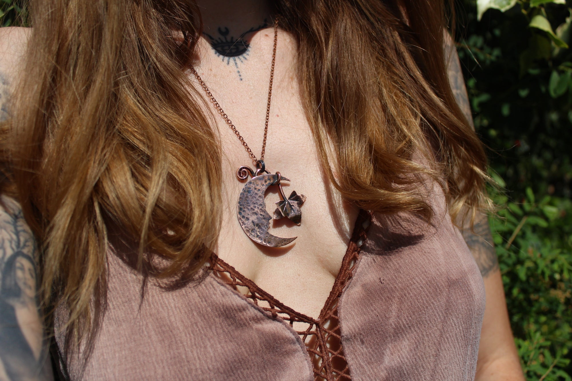 IVY MOON Handmade Copper Necklace