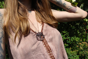 MYCELIUM MAGIC Handmade Copper Woodland Necklace