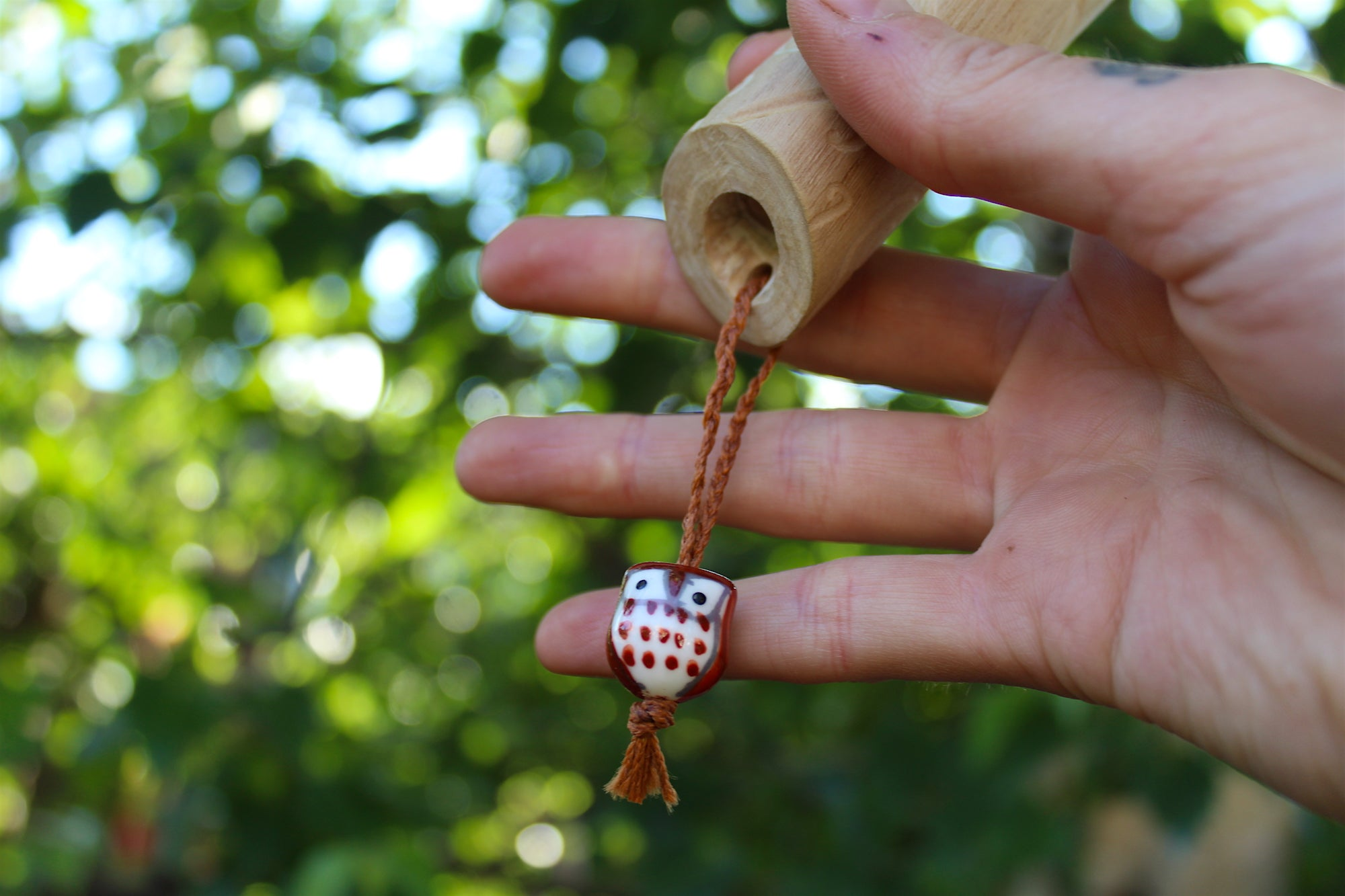 Brown Owl Handmade Elder Wood Whistle