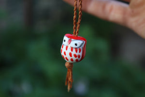 Red Owl Handmade Elder Wood Whistle