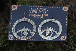 AWAKEN Handmade Brass Earrings