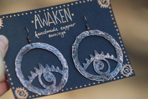 *RESERVED* AWAKEN Handmade Copper Earrings