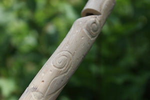 Dark Blue Owl Handmade Elder Wood Whistle