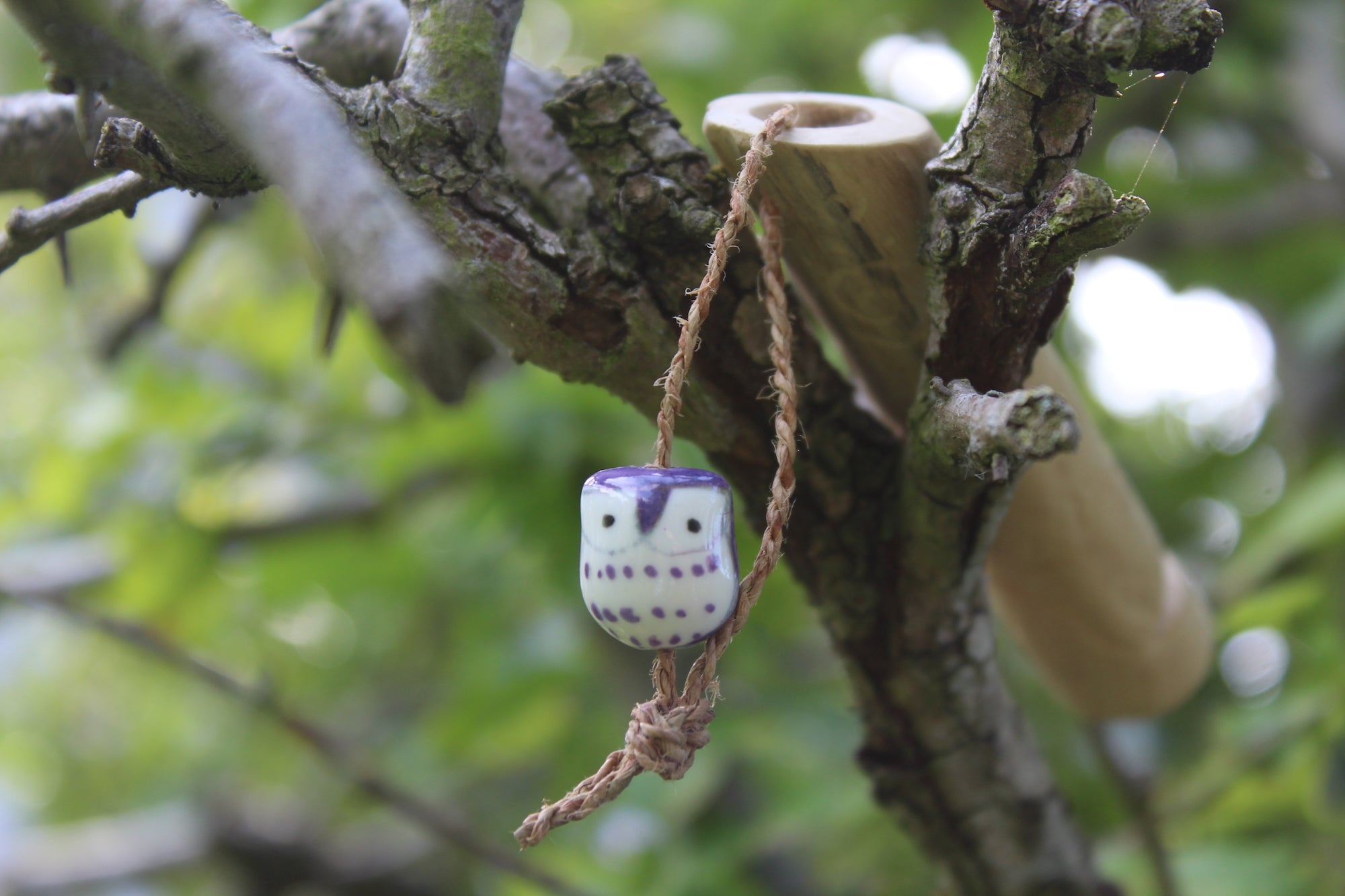 Purple Owl Handmade Elder Wood Whistle