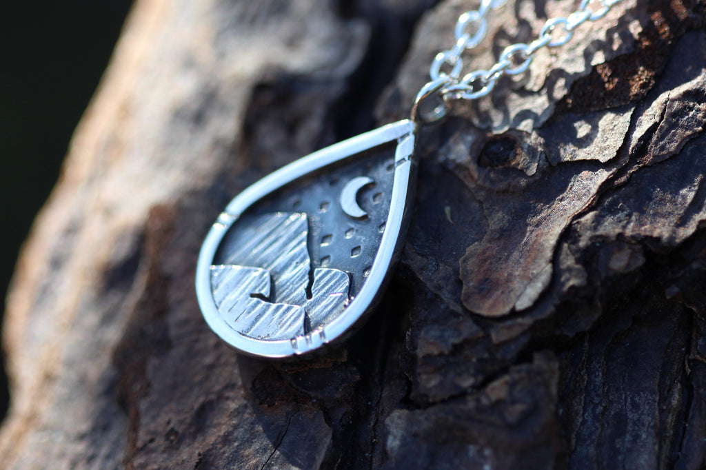 Sterling Silver EXPLORE Necklace