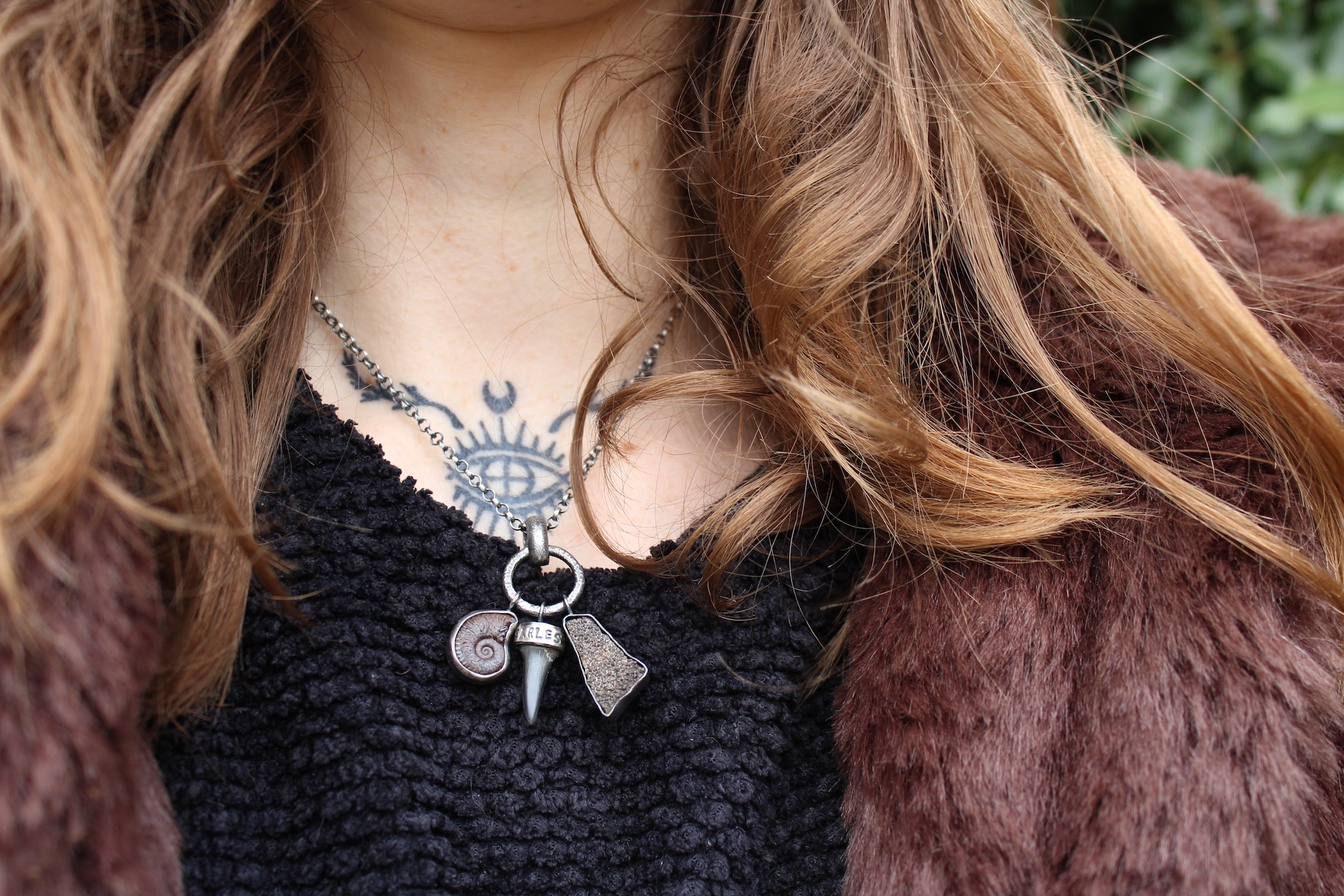 FEARLESS + ANCIENT Sterling Silver Fossil Collector Necklace