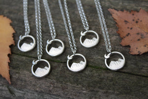 Sterling Silver Mini EXPLORE Necklace