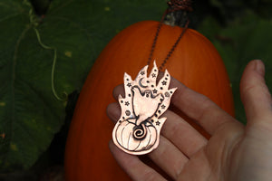 WITCHING HOUR - GHOST Handmade Recycled Copper Necklace