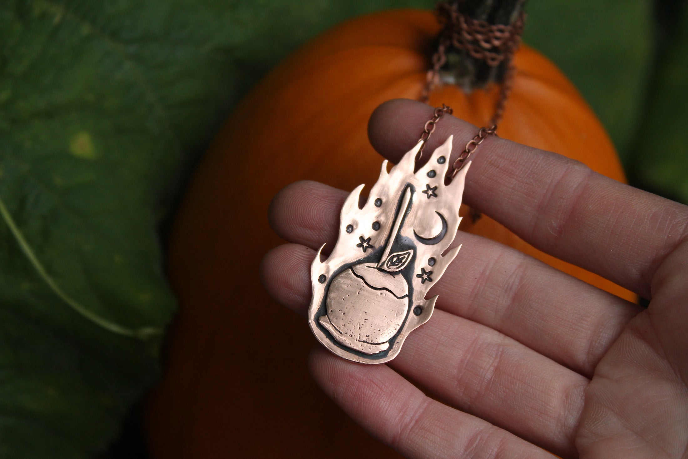 WITCHING HOUR - TOFFEE APPLE Handmade Recycled Copper Necklace