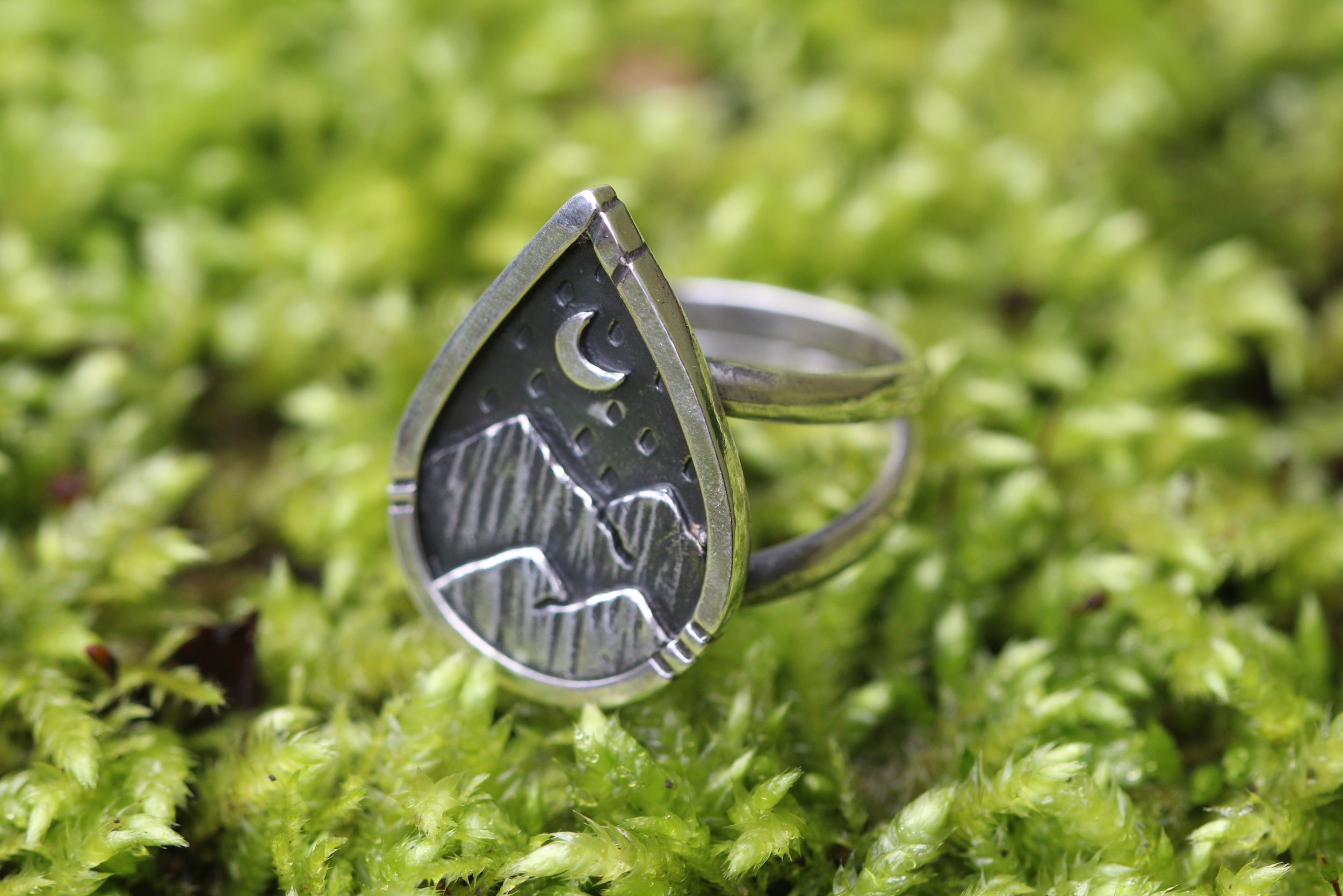 Sterling Silver EXPLORE Ring