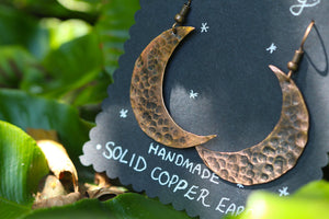 MOONRISE Handmade Copper Earrings