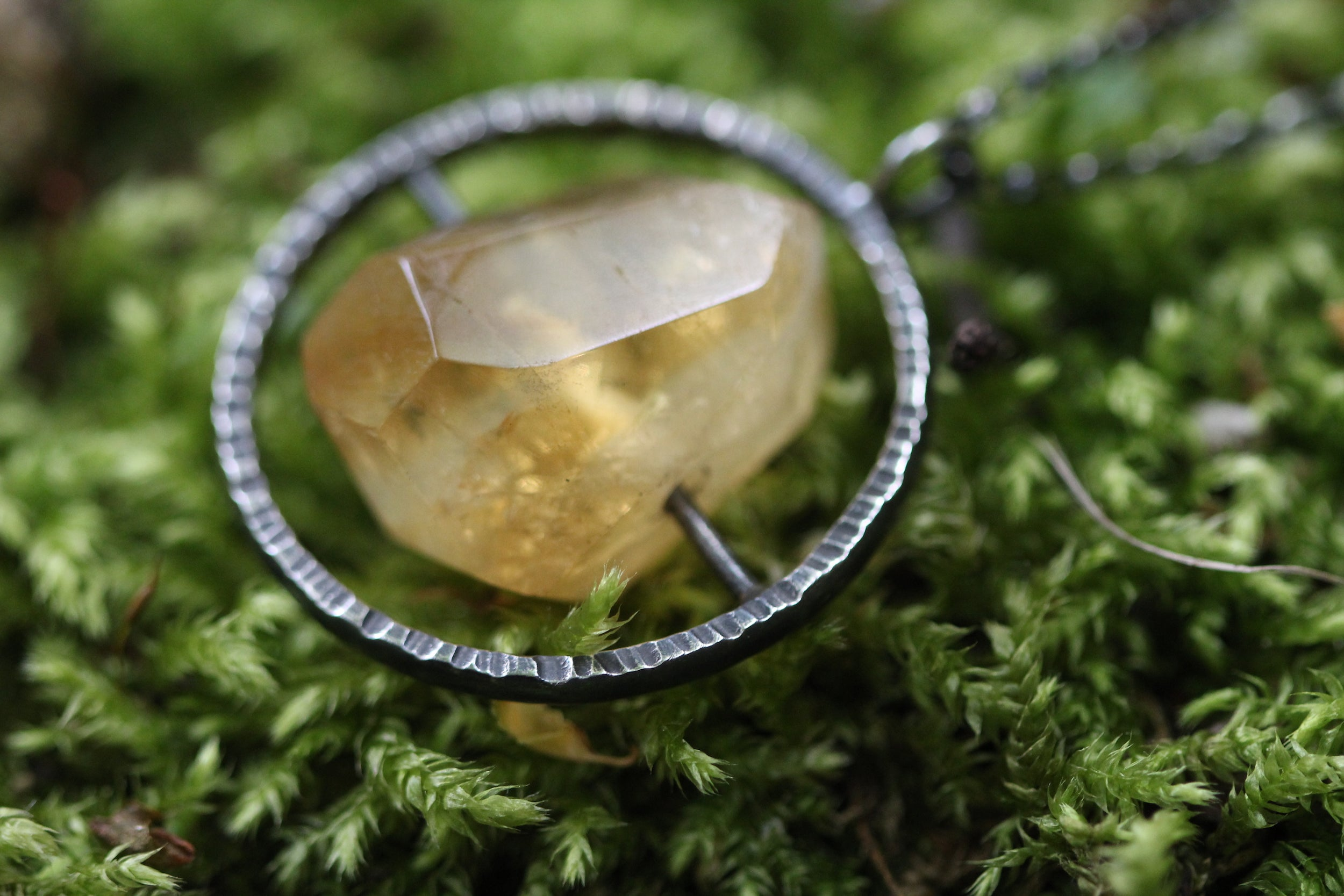 Citrine Spinner Necklace
