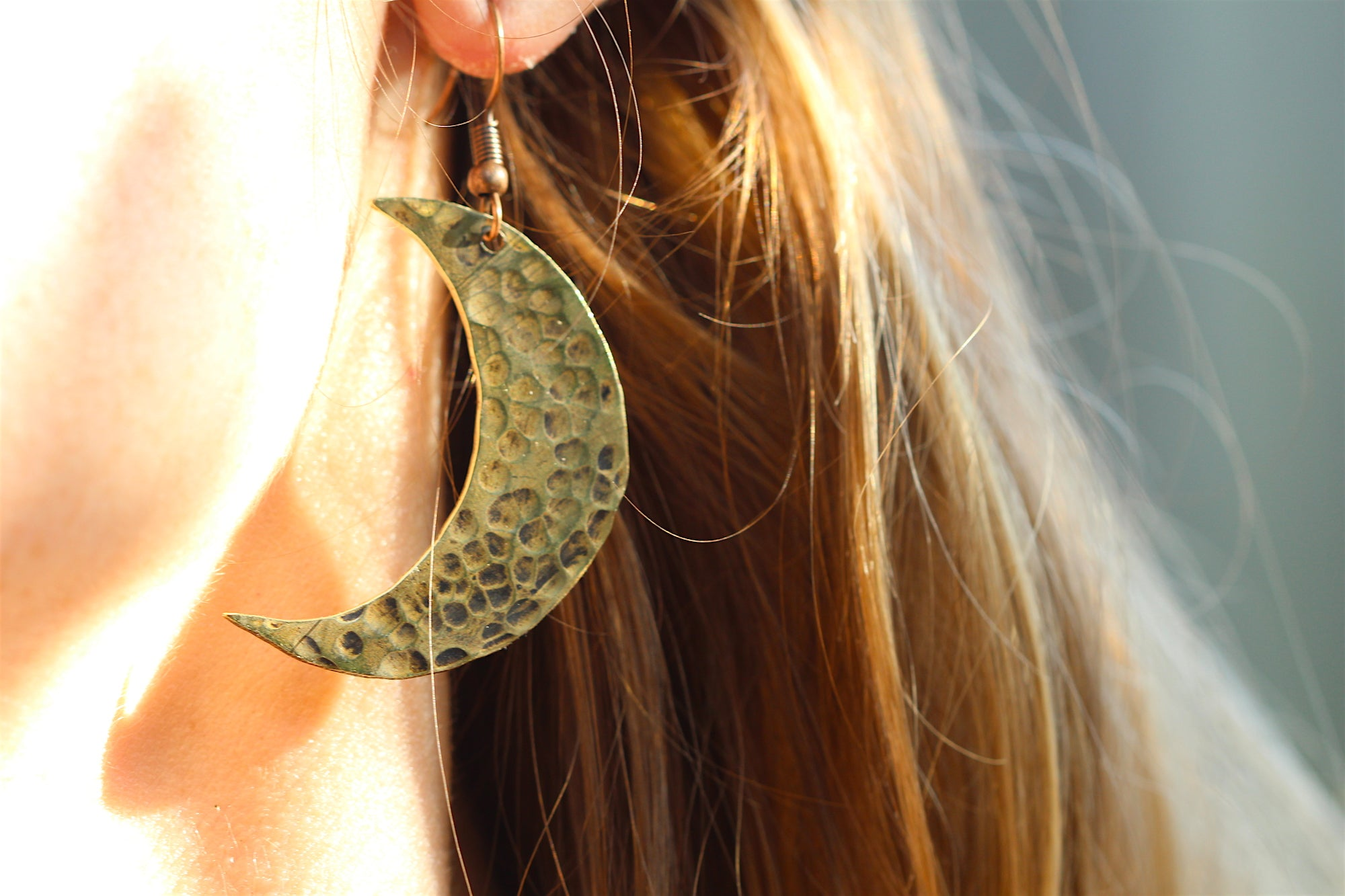 MOONRISE Handmade Brass Earrings