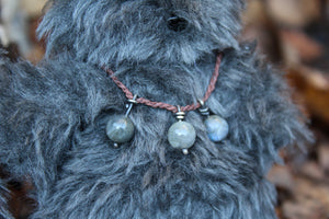 Wild Grey Wilderkin with Labradorite Necklace I