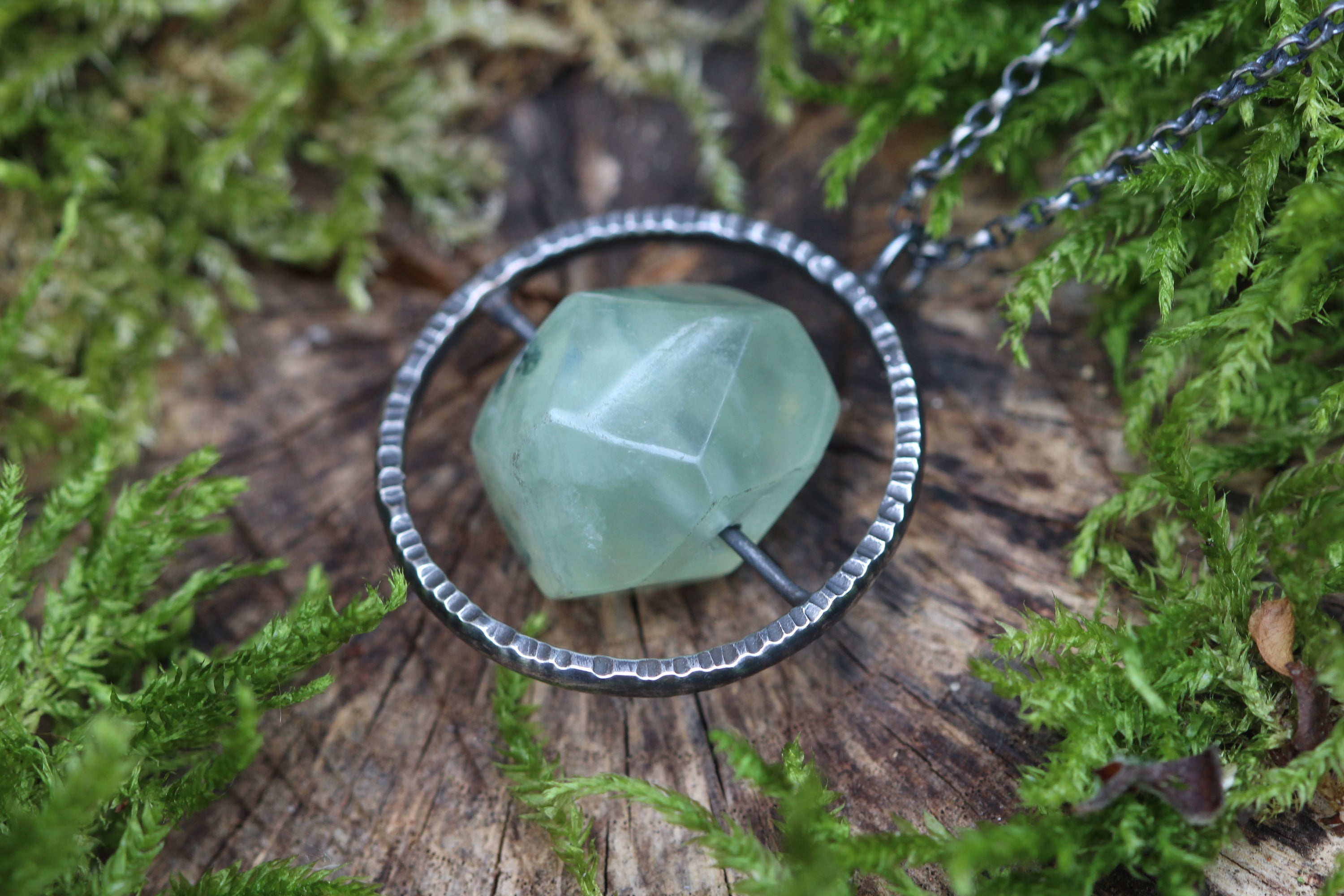 Prehnite Spinner Necklace