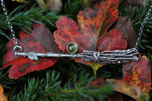 GREEN WITCH Sterling Silver Necklace