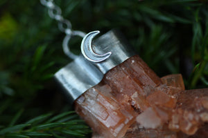Raw Aragonite Crystal & Sterling Silver Necklace