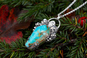 THE OLD ONES Handmade Turquoise Coffin & Sterling Silver Necklace