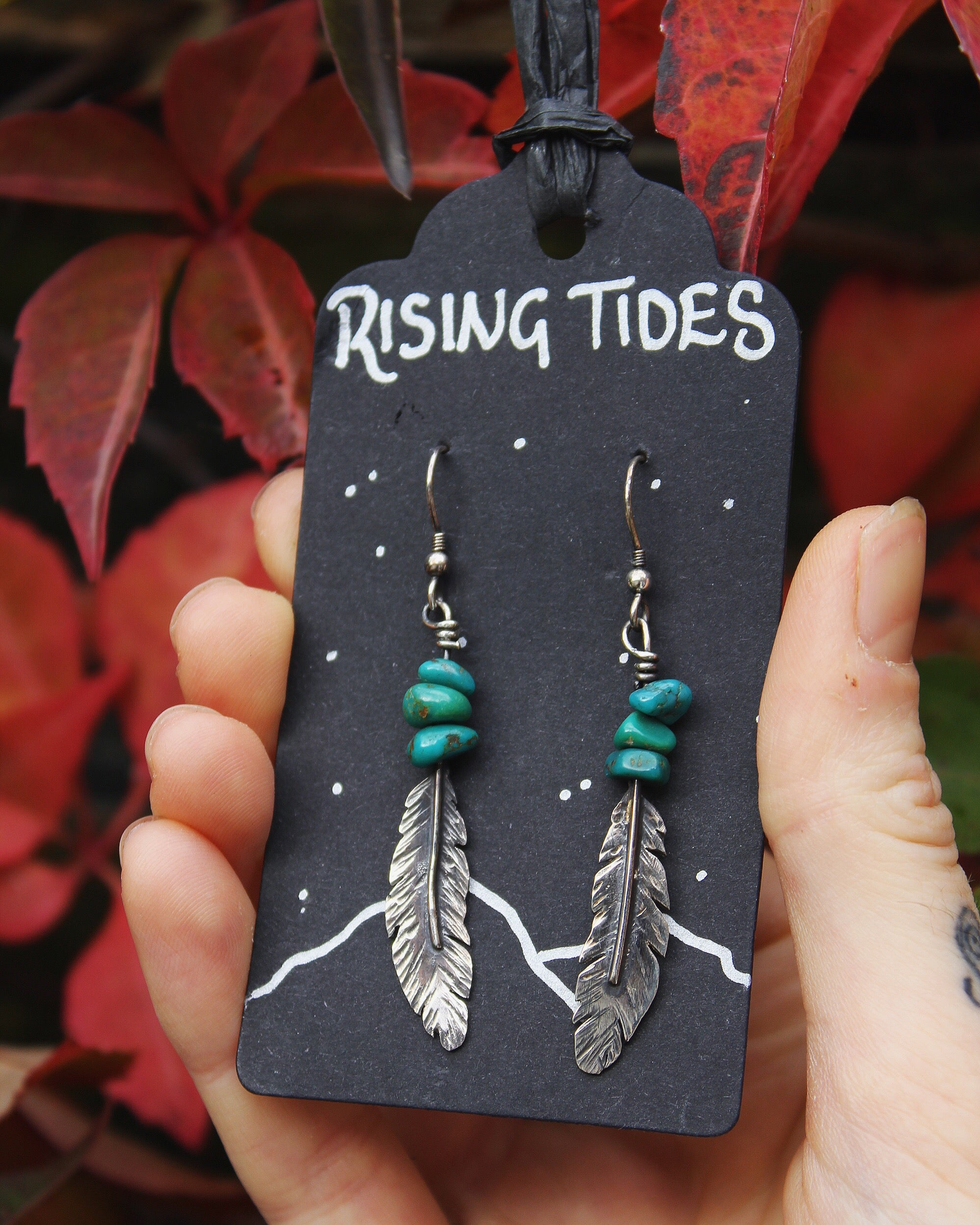 SOARING SPIRIT Sterling Silver & Turquoise Earrings