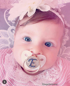 Custom Pacifiers with Rhinestone Baby Name Personalized Pacifier