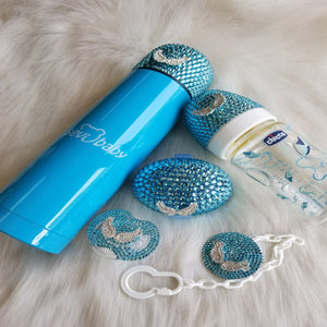 Crystals Pacifier & Clip + Pacifier Box + Bottle + Thermo Bottle Set