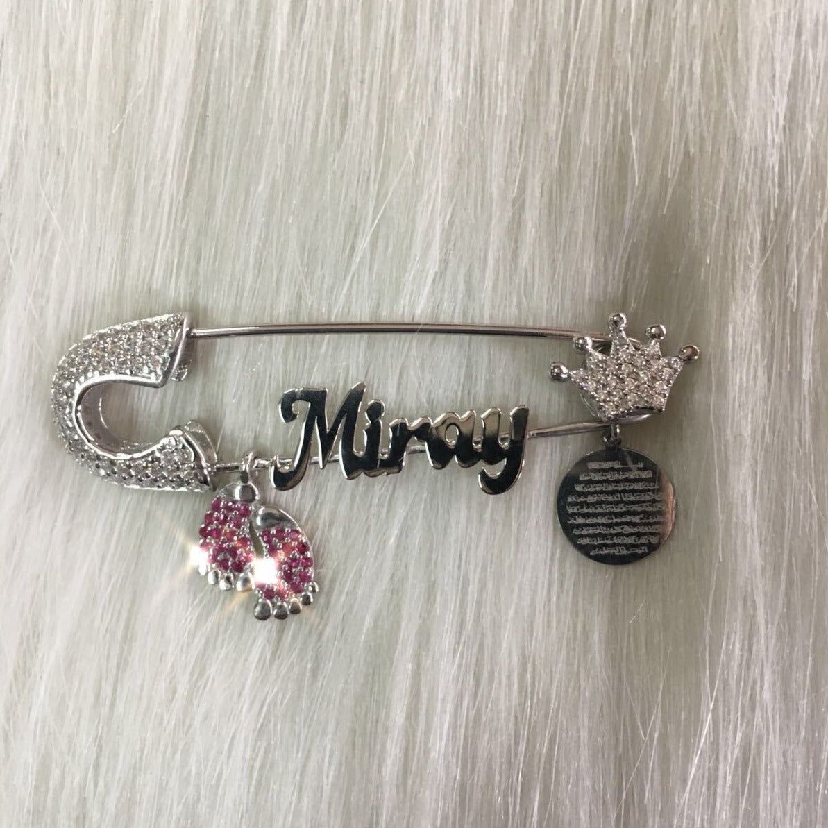 Gold and Silver Plated Personalized Baby Pin - Bling Bling Babies