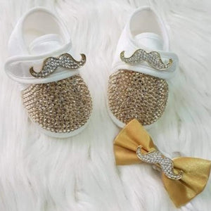 Handmade Rhinestone Crystals Bling Cute Baby Boy Shoes - Bling Bling Babies