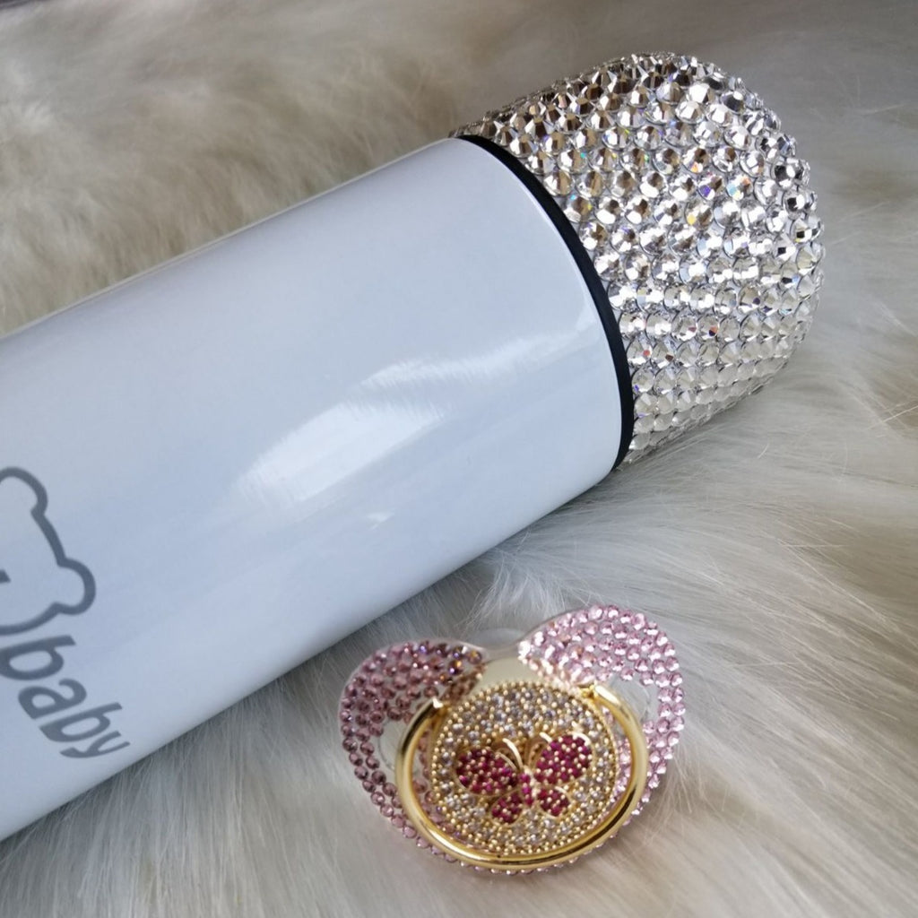 Rhinestone Baby Thermo Bottle - Bling Bling Babies