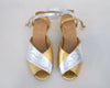 PRE-ORDER Erica [Low Heel Sandal] Gold and Silver