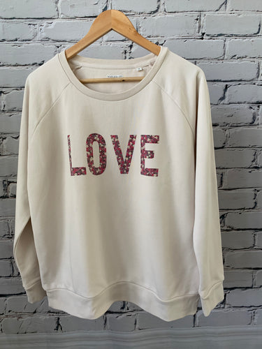 LOVE Cream Sweatshirt