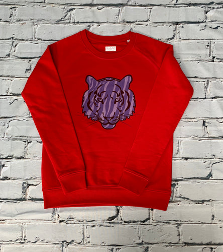 Tiger Sweatshirt Red