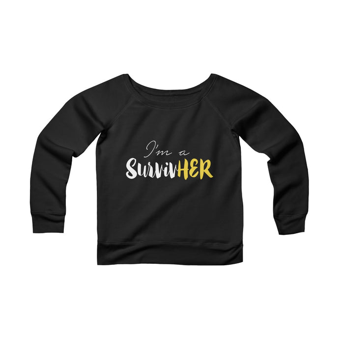 I'm A SurvivHER Off-the-Shoulder Sweatshirt