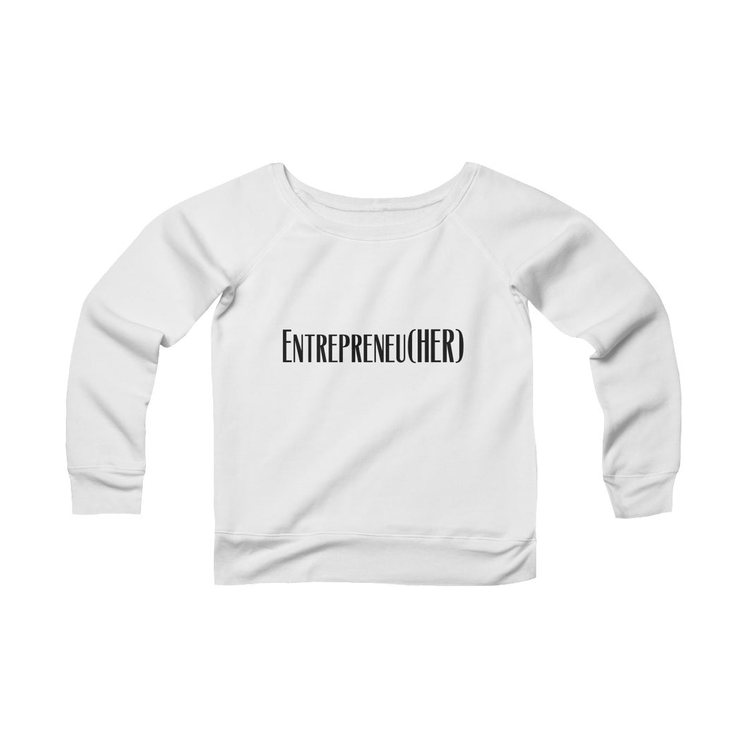 Entreprenu[HER] Off-the-Shoulder Sweatshirt