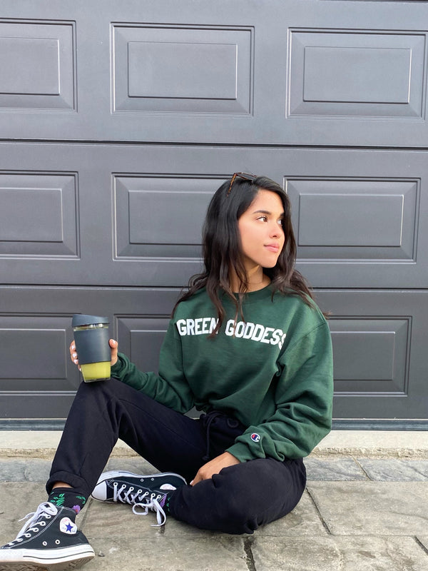 GREEN GODDESS CREWNECK