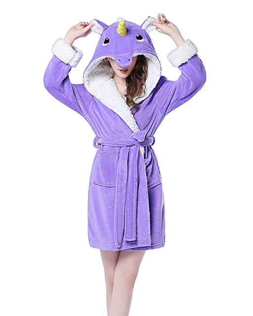 Purple Unicorn Bathrobe