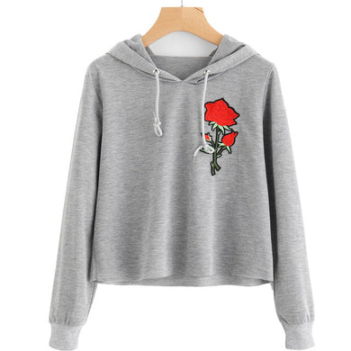 Flower Cropped Hoodies