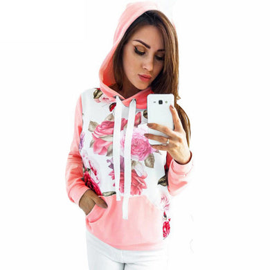 Floral Print Long Sleeve Pullovers