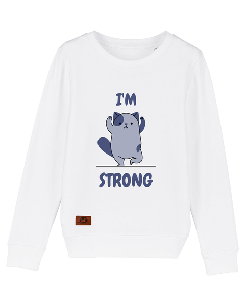 "Kinder Sweatshirt ""I´m strong"""
