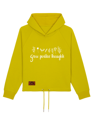 "Frauen Sweatshirt mit Kapuze ""grow positive thoughts"""
