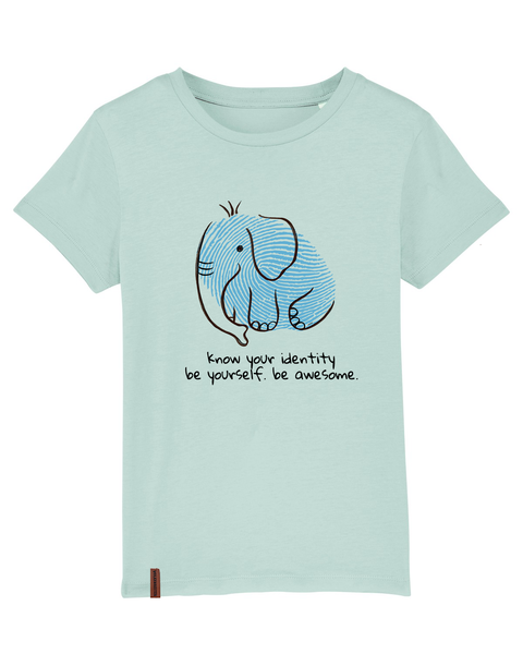 "Kinder T-Shirt Elefant ""Know your identity"""