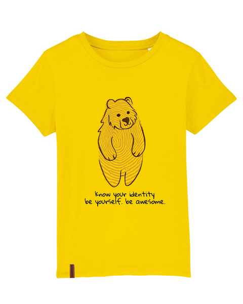 "Kinder T-Shirt Bär ""Know your identity"""