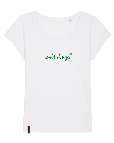 "Frauen T-Shirt ""world changer"""