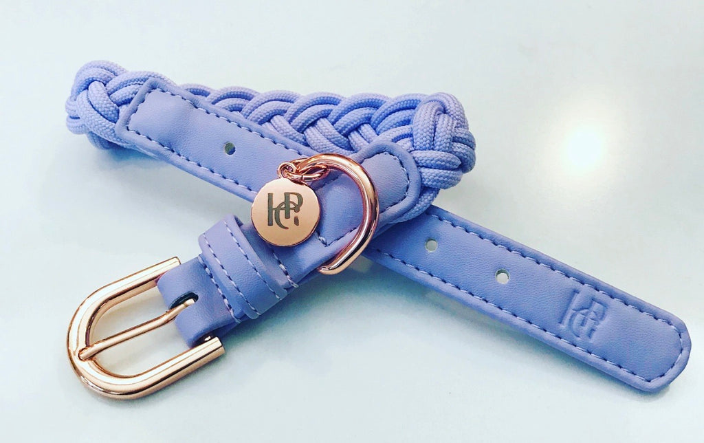 Dog Collar Lilac Plaited