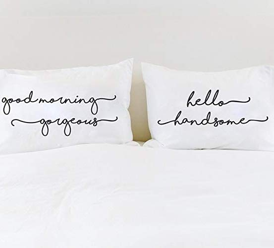 Good Morning, Hello Handsome Pillowcase Set - littleweddingstore.co.nz