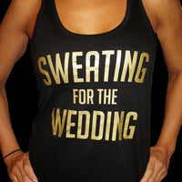 Sweating for the Wedding Tank Top - littleweddingstore.co.nz