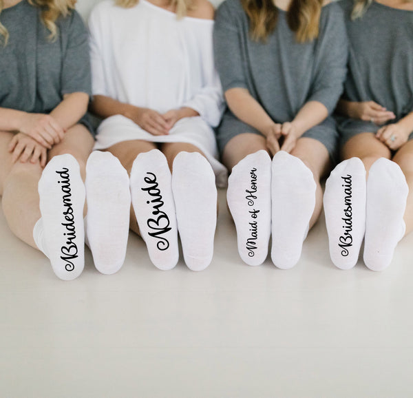 Bride / Bridesmaid Socks - littleweddingstore.co.nz