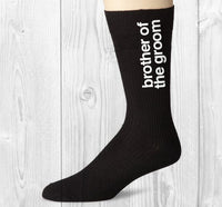 Brother of the Groom Socks - littleweddingstore.co.nz