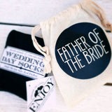 Father of the Bride Gift Bag with Socks - littleweddingstore.co.nz