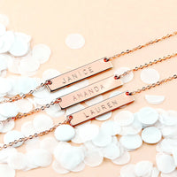 custom bridal jewellery bridesmaid gifts personalised bracelet necklace