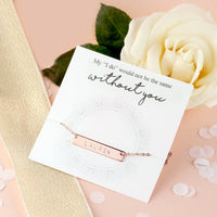 Personalised Nameplate Necklace - littleweddingstore.co.nz